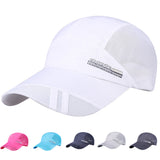 Male Baseball cap Adult Mesh Hat Quick-Dry Collapsible Sun Hat Outdoor Sunscreen Casquette homme Summer bones masculino-lilogal
