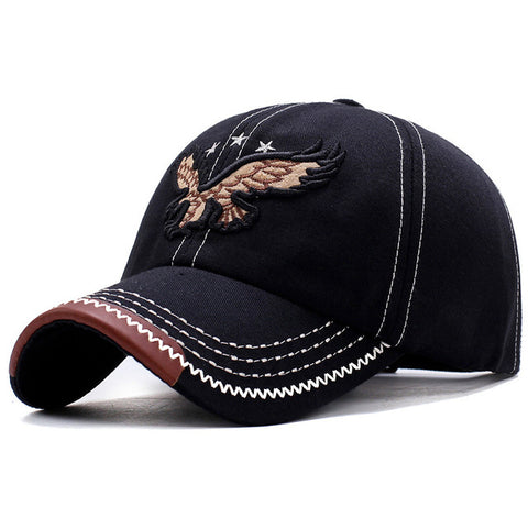 2018 New Heavy Washed Denim 3D Eagle Embroidery Baseball Caps Men Women Sports Active Casual Hat One Size Adjustable-lilogal