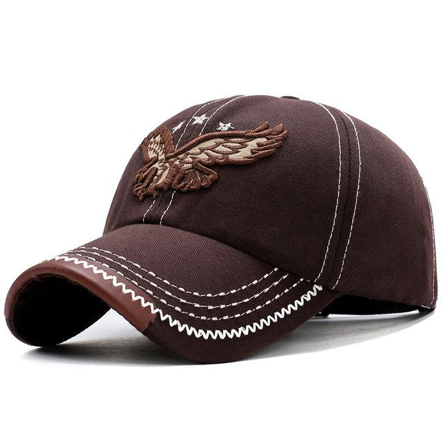13c4e3f2547 2018 New Heavy Washed Denim 3D Eagle Embroidery Baseball Caps Men Women  Sports Active Casual Hat