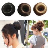 2018 Wig Rubber Band Women Girl Hairpiece Hair Styling Tool Bun Ring Donut Shaper Hair-lilogal