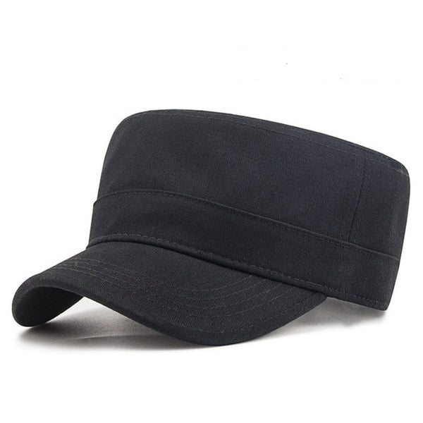 Man Big Head Sun Hats Male Pure Cottont Flat Army Cap Adult Casual Peaked Caps Men Plus Size Baseball Hat 56CM 58CM 59CM 62CM-lilogal