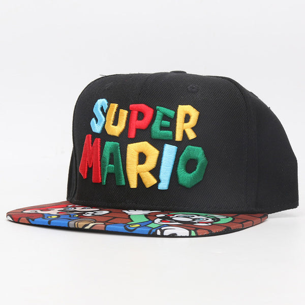 Super Mario Bros Hats Mario Luigi Yoshi Snapback Baseball Caps Cartoon Adult Casual Summer Sun Hats Couple Hip Hop Caps-lilogal
