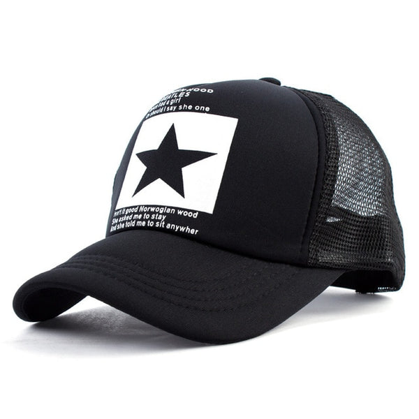 Geebro 2018 Summer Star Snapback Baseball Cap Men Sunshade Mesh Net Hat Women Casual Advocate Sports Sun Visor Caps bone gorras-lilogal