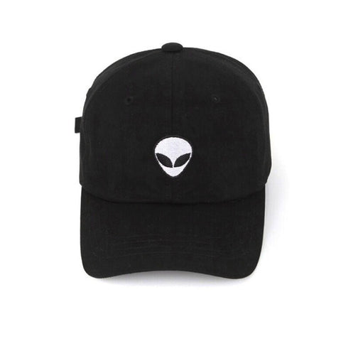 2018 New Damn Alien Embroidery Baseball Cap Cotton Adjustable Outdoor Hat Lovers Hat Korean Style Harajuku Hat-lilogal