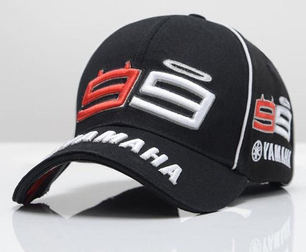 2018 High Quality MOTO GP 99 Motorcycle 3D Embroidered F1 Racing Cap Men Women Snapback Caps Rossi 99 Baseball Cap YAMAHA Hats-lilogal