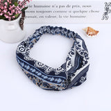 Women Stripe Twist Headband Female Vintage Hair Clips Chiffon Twist Hairband Turban Bandana Head Bandagehaar hair accessoires-lilogal