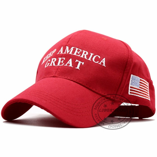 LIBERWOOD 2020 Donald Trump Red Hat Re-Election Keep America Great Embroidery USA Flag MAGA New Cap Cotton Baseball Hat cap-lilogal