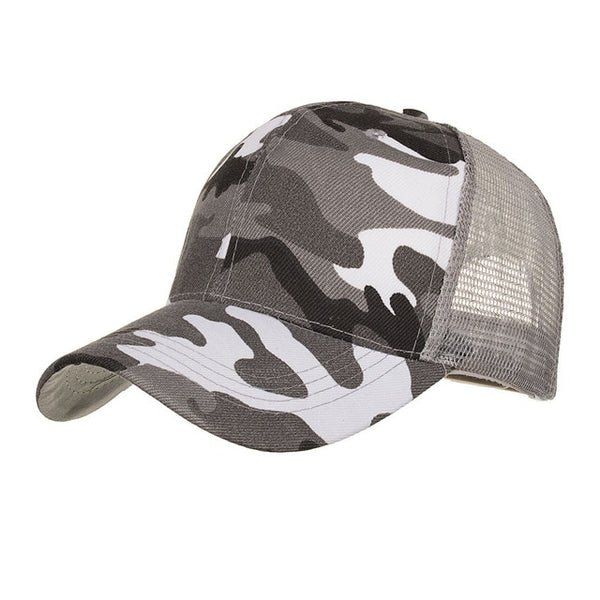 JOYMAY 2018 Spring summer New Sun hat Fashion style Man cap Camouflage Mesh Baseball Cap Casual leisure hat B530-lilogal