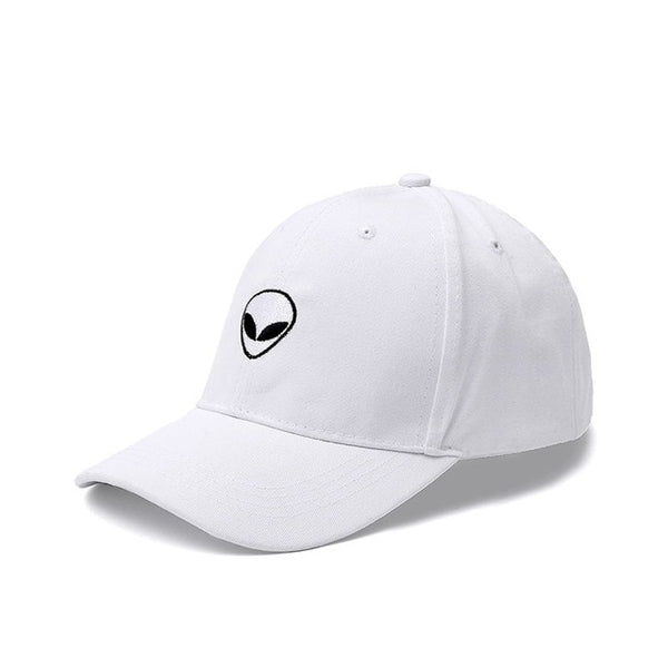 New Fashion Aliens Snapback Cap Outstar Saucer Space E.T UFO Fans Black Fabric Baseball Cap Hip Hop Hat Dad Hat for Men Women-lilogal
