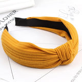 1PC Knitting Crossed headband Fashion Women Girls Elastic Bowknot Turban Twisted Retro Hair bands Wide Hairband Hair Accessories-lilogal