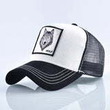 Fashion Snapback Trucker Hat For Men Summer Breathable Mesh Baseball Cap Women Wolf Embroidery Hip Hop Casquette Boys Kpop Bone-lilogal