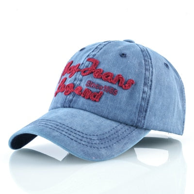 Spring Washed denim hat women summer sun hats Unisex Snapback cap men cotton baseball caps casual Hip hop cap for women bone-lilogal
