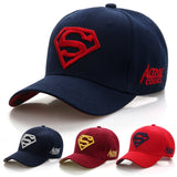 2018 New Letter Superman Cap Casual Outdoor Baseball Caps For Men Hats Women Snapback Caps For Adult Sun Hat Gorras wholesale-lilogal