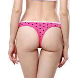 1pcs 95%Cotton Underwear Woman Sexy Thongs and G Strings Dot Patterns Fashion Soft Comfortable Woman Panties Cute Temptation-lilogal