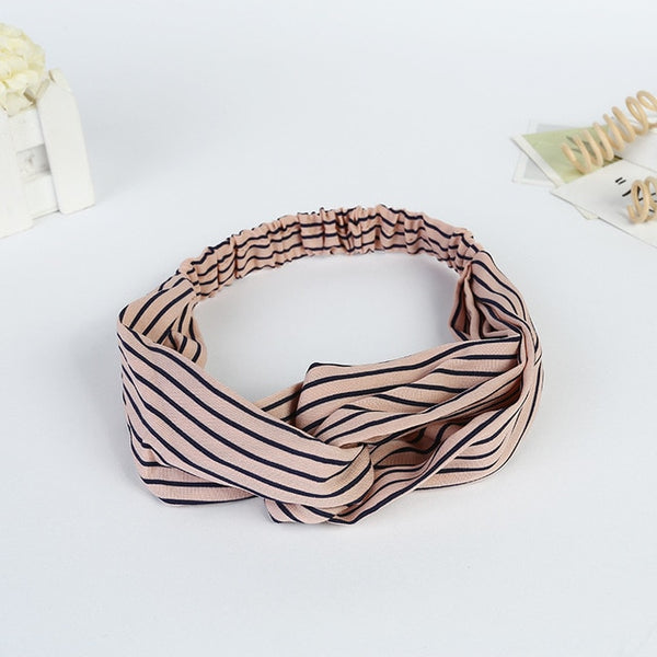 Women Stretch Twist Headband Striped Turban Sport Yoga Head Wrap Bandana Headwear Hair Accessories 2018 New Fashion Hot Sales-lilogal