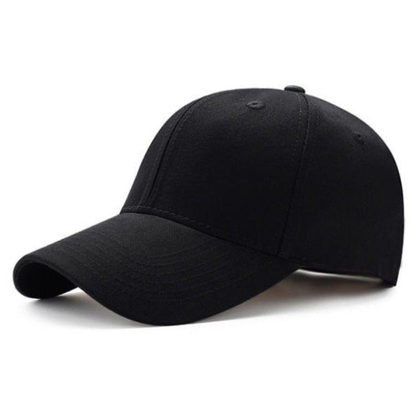 Men Women Plain Curved Sun Visor Baseball Cap Hat Solid Color Fashion Adjustable Caps-lilogal