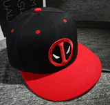 Anime Deadpool Embroidery Hip Hop Snapback Hat Cotton Casual Flat Baseball Cap For Men Women Gorras Casual Bone Birthday Gift-lilogal