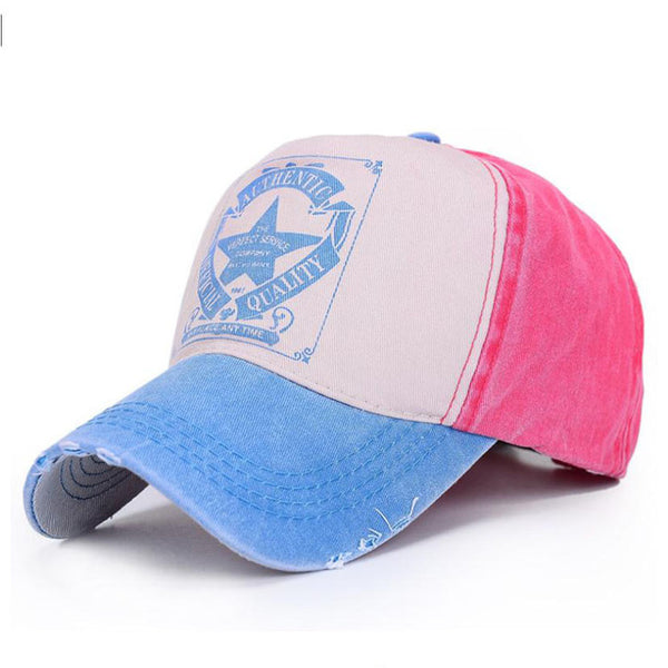 [AETRENDS] 6 Colors Star Patchwork Baseball Cap Snapback Men Outdoor Tennis Hats Sports Woman Cap Cotton Bones Custom Hat Z-1462-lilogal