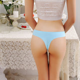 Plus Size Women Seamless Panties Female Ice Silk Briefs Ultra Thin Underwear Ladies Invisible G-string Sexy Thong-lilogal