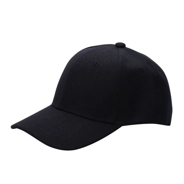 Men Women Plain Solid Color Baseball Cap Curved Visor Hat Adjustable Size Nylon Fastener Tape Casual hats-lilogal