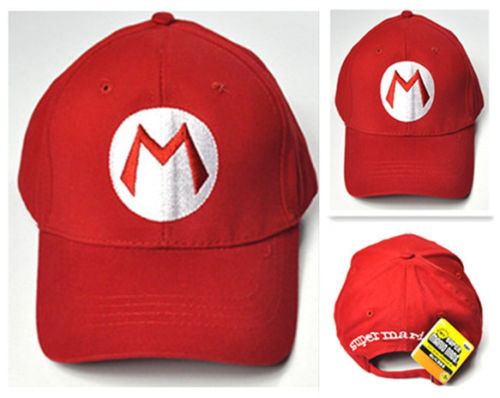 Drop Shipping Super Mario Bros Caps Adjustable Adult Kids Costume Hat Anime Cosplay Red M Green L Mario baseball Cap Gift-lilogal