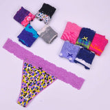 lady Lowest price New multi-color Sexy cozy comfortable Lace Briefs thongs women Underwear Lingerie for women 1pcs ac31-lilogal
