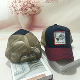 Unisex Animal Embroidery Patch Cotton Mesh Baseball Cap Trucker Hat Snapback New-lilogal