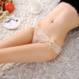 New 2018 sexy bowknot panties Women Sexy Lace V-string Briefs Panties Thongs G-string Lingerie Underwear Women's Panties-lilogal