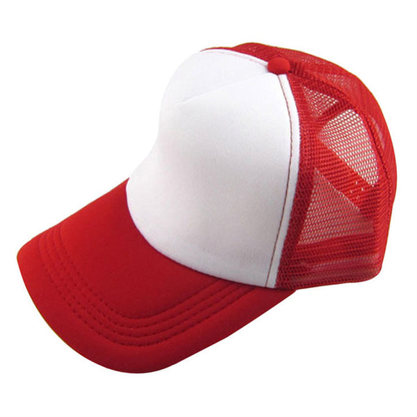 Coolbeener Unisex Casual Hat Solid Baseball Cap Trucker Mesh Blank Visor Hat Adjustable dec7-lilogal