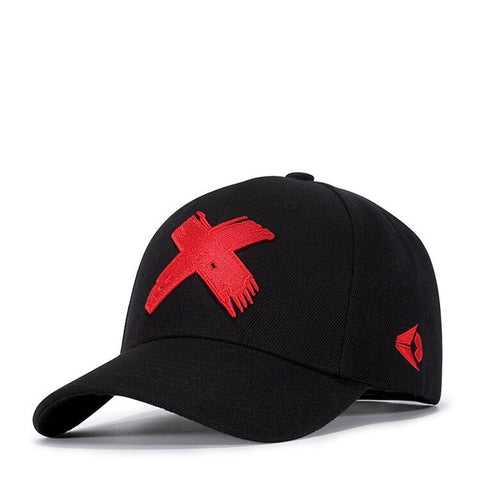 Wuaumx NEW Branded X Embroidery Snapback Caps For Women Men Classic Baseball Cap Fitted Hip Hop Dancer Hat Casquette Wholesale-lilogal