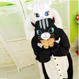 Animal Cat Pajama Sets Women Winter Indoor Cartoon One-Piece Onesies Adult Long Sleeve Anime Sleepwear Kigurumi Pijamas-lilogal