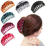 Fashion 1PC woman girl multicolor plastic hairpin clip banana claw ponytail hair accessories headdress-lilogal
