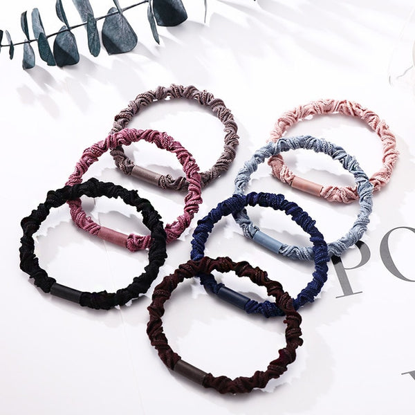 7PCS/Lot Good Quality Women Basic Elegant Elastic Hair Rubebr Bands Ponytail Holder Hair Ropes Lady Wholesale Hair Accessories-lilogal