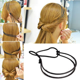 New Elegance Diy Hair Tools Maker Double Hair Bands Women Black Headbands Magica Hair Styling Hairbands Girls Hair Accessories-lilogal