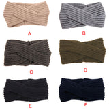fashion women winter accessories Woolen solid elastic hair bands hair accessories for women head bands for women-lilogal