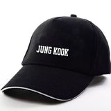 Women Men Snapback Hats BTS print Fashion Cricket Cap Hats Adjustable Baseball Cap Bulletproof Young Age Group SUGA Airport Hat-lilogal