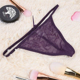 Women Sexy Thongs G String Female Panties Perspective Lace Bow Bandage T back Thong Underwear Low Waist Tangas Erotic Briefs 30-lilogal