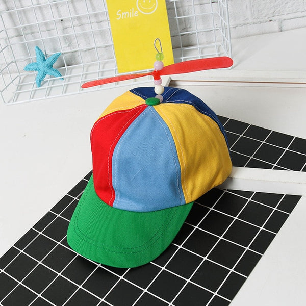 2018 Adult Helicopter Propeller Baseball Caps Colorful Patchwork Cap Hat Sun Hat Children Boys Girls Snapback Dad Hat-lilogal