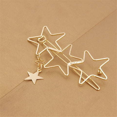 Women Ladies Popular Hollow Star Tassel Hairpin Hair Pin Hair Clips New High Quality Hair Accessories-lilogal