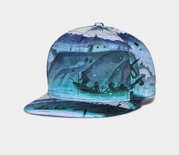 Brand NUZADA 3D Printing Men Women Couple Baseball Cap Creative Design Caps Cotton Snapback Hats Bone Adjustable-lilogal