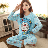 Wholesale Pajamas Sets Spring Autumn Style Thin Carton Generation Women Long Sleepwear Suit Home Women Gift Female Sleepwear-lilogal