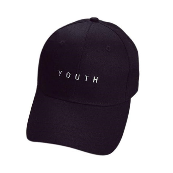 2018 Caps Youth Baseball Letter Men Woman Adjustable Caps Casual Hats Solid Color Black White Fashion Snapback Summer Fall Cap-lilogal
