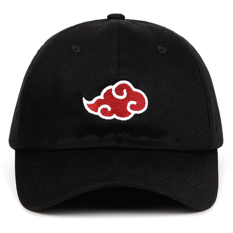 100% Cotton Japanese Akatsuki Logo Anime Naruto Dad Hat Uchiha Family Logo Embroidery Baseball Caps Black Snapback Hats dropship-lilogal