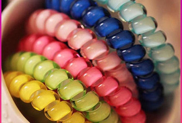 10pcs Gum For Hair Accessories Hair Ring Rope Traceless Women Gum Elastic Hair Bands For Women Gum Telephone Wire Scrunchy-lilogal