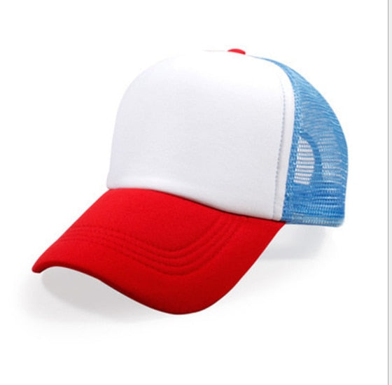 Stranger Things Dustin HAT RED WHITE BLUE Trucker Baseball Mesh Cap Adjustable Hat Costumes Cosplay-lilogal