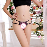 Women Lace Panties G String Sexy Female Transparent Underwear Thong Hollow Out Sexy Briefs T-back With Bow Hot Sale-lilogal