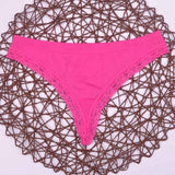 lady Lowest price New multi-color Sexy cozy comfortable Lace Briefs thongs women Underwear Lingerie for women 1pcs ah1103-lilogal