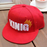 "Children Kids Hip Hop ""King Queen ""Letters Print Cap Fashion Baseball Caps Hat Adjustable Boys Girls Hat-lilogal"