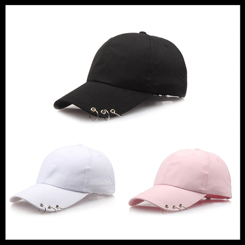 Fashion Adjustable Ring Baseball Cap Wild Couple Hats Spring Summer for Women Unisex Baseball Caps 3 Color 2018 New-lilogal