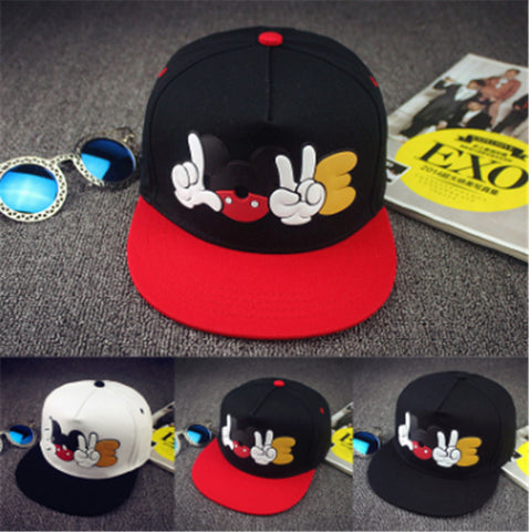 2018Cartoon Mickey Hip Hop Cap Summer Couples Sun Hats Sports Baseball Caps Snapback Hats For Men Women Casquette-lilogal